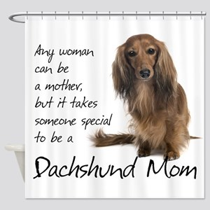 Dachshund Mom Shower Curtain